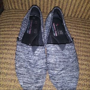 Bobs Marble Gray Slip on Shoes